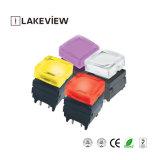 Interruttore di pulsante illuminato LED silenzioso di breve corsa per il pannello di controllo studio/dell'audio