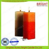 Quadratische Form-Pfosten-Kerze mit Schneeflocke und Schicht-Effekt
