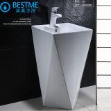 Bassin de piédestal de salle de bains, lavabo neuf de modèle