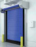 High Speed PVC Roll Shutter Cold Storage Door with Steel Frame