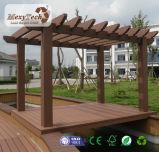 Pergola en bois Anti-UV de la matière composite WPC avec le bâti en aluminium