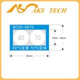 Warmtegevoelige Etiket Op hoge temperatuur van de Verandering van de Kleur van Bcw het Onomkeerbare