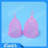 Cuvette menstruelle de femmes médicales de silicones pour la vente en gros