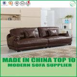 家庭内オフィスの家具の上のグレーンレザーのアメリカの余暇のソファー