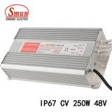 Symbole de véhicule lent Smun-250-48 250W 48V 5.2A à tension constante Driver de LED IP67