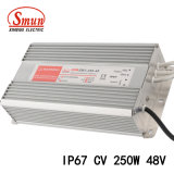 Smun Smv-250-48 250W 48V 5.2A 일정한 전압 IP67 LED 운전사