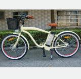 セリウムが付いている26inch浜の巡洋艦の電気自転車
