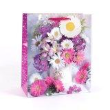 Sonnenblume-grüne Form-Kunst-überzogene Geschenk-Papiertüten