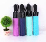 سوداء طلية مظلة عكس نمو لون يعكس [شفا] مظلة مطر نساء 3 يطوي مشمسة آليّة سيارة رجال مظلة