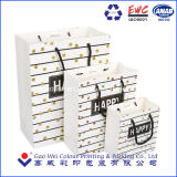 China Proveedor de la Fábrica de Impresión de logotipo de la bolsa de papel de regalo con asas