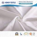 Materia textil del colchón del poliester del blanco del 100%