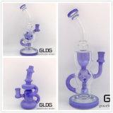 Nuovo disegno tubo di acqua di vetro del tabacco di colore dei 14 di pollice di altezza di Handblown S.U.A. del riciclatore con il prezzo di fabbrica