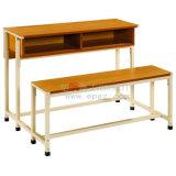 خشبيّة [ميدّل سكهوول] لون ضعف مكتب بالجملة مع كرسي تثبيت