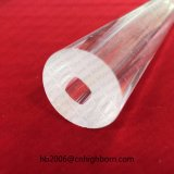 Baibo cristal transparente de elevada pureza para o tubo de quartzo com um orifício quadrado