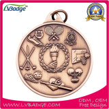 昇華締縄が付いているカスタム金属メダル
