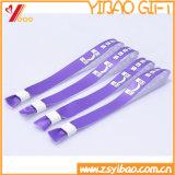Wristbands di seta su ordinazione del tessuto di festival di marchio della stampa per gli eventi (yb-nn-1326)