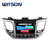 Processeurs quatre coeurs Witson Android 9.0 DVD de voiture GPS pour Hyundai Tucson 2015 ix35/ lien miroir pour Android mobile+l'iPhone