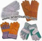 Industrieller lederner Arbeits-Handschuh