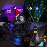 Projetor do laser da mostra da estrela da luz da decoração de Green&Blue