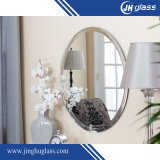 Oval Silver Aluminium Copper Free Faricated Mirror para Wall Decoraiton