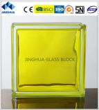 Jinghua alta calidad en color amarillo limón de ladrillo de vidrio/bloque