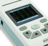Kanaal ECG/EKG van het ELECTROCARDIOGRAM van Meditech 101t het Handbediende Enige met Printer