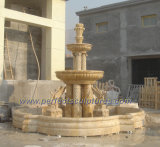 Esculpir a pedra mármore fonte de água salgada para jardim (SY-F236)