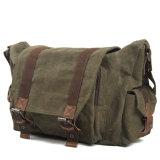 Sacchetto di spalla della tela di canapa del sacchetto del iPad della spalla della tela di canapa del cuoio del sacchetto del messaggero (RS-6861)