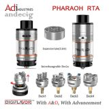 도매 Digiflavor Pharaoh Rta 탱크 검정 또는 Gold/Ss 4.6ml Pharaoh Rta 분무기