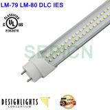UL DLC DU FEU DU TUBE T8 LED SMD2835 Epistar Chip 5 ans de garantie