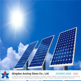3.2/4mm totalmente templado de vidrio extra claro para el módulo de celdas solares
