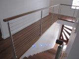 Balustrade d'acier inoxydable de pêches à la traîne d'escalier d'acier inoxydable pour le balcon