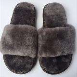 Женщин моды зимний крытый обувь, подлинных Sheepskin шерсти тапочки