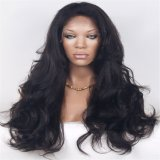 La mode en dentelle de gros d'onde du corps humain perruque de cheveux