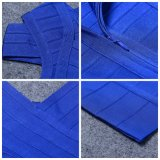 Платье женщин типа двойного платья сини платья плеча новое