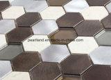モザイク・タイルの石造りのタイルのMatelアルミニウムガラスは装飾の台所Backsplashの浴室のモザイク壁のタイルをタイルを張る