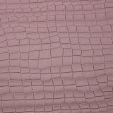 Crocodilo elegante couro sintético gravado do PVC do plutônio para o saco (W224)