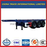 Китая изготовления Extendable сверхмощный низкий кровати Lowboy тележки трейлер Semi (тонна 50-80)