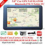 Neue 5.0inch kapazitive Tablette PCS mit Auto-Gedankenstrich GPS-Nautiker des Android-6.0, WiFi; Gps-Navigation; Handels-für in der hinteren Parken-Kamera; Google GPS Karte G-5040