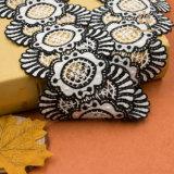 Шнурок рейона & полиэфира двойной оптовой продажи тесемки тканья цвета белый Beaded Bridal