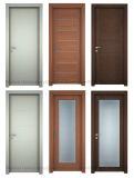 주문을 받아서 만드십시오 내부 PVC 필름에 의하여 박판으로 만들어진 넘치는 MDF 문 (WDH09)를