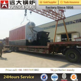 Szl4-1.25-T 4ton Double Drum Moving Grate Biomass Pellet Wood Chips Fired Steam Boiler
