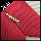 Color rojo 100% seda tejida manera de los hombres hechos a mano de lazo
