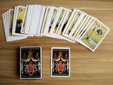 54 cartes avec les cartes de jeu de papier personnalisées par modèle différent de tisonnier