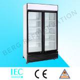 Refrigerador de vidro do indicador do refresco da porta do supermercado com Ce