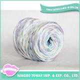 Têxtil Acrílico Nylon Poliéster Seda Tape Camiseta Yarn