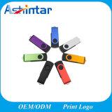 De plástico colorido de metal de memória USB Flash Drive USB Swivel pendrive USB