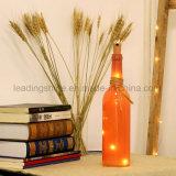 Mini luz pura de la botella de la decoración del hogar de la luz de la cadena del cobre de la luciérnaga del color ligero