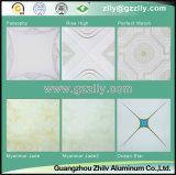 Plafond d'impression d'enduit de rouleau du matériau de construction en aluminium - or octogonal