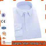 Camisa de alineada formal purpúrea clara del asunto de los hombres del algodón 100%